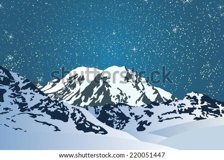 vector illustration moonlit