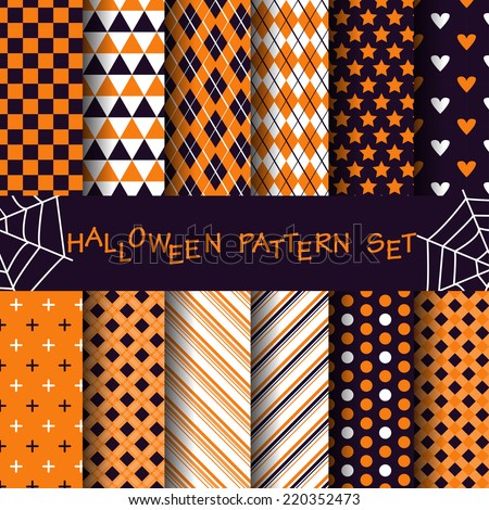 12 different halloween  pattern