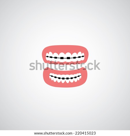 vector orthodontics sign on