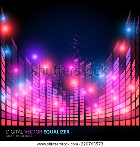 illustration of music equalizer