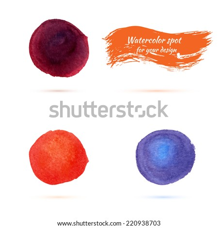 watercolor spots for design