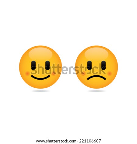 happy and sad smileys