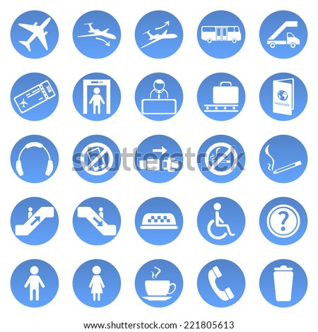 vector set of airport icons