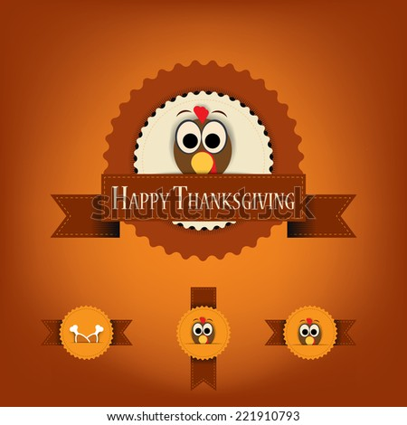 thanksgiving badges with