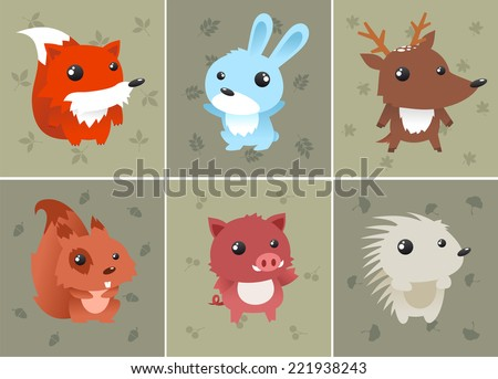 forrest baby animals set