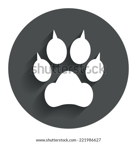 dog paw with clutches sign icon