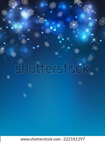 vector abstract winter night