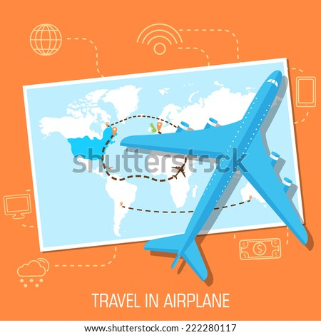 flat travel with airplane
