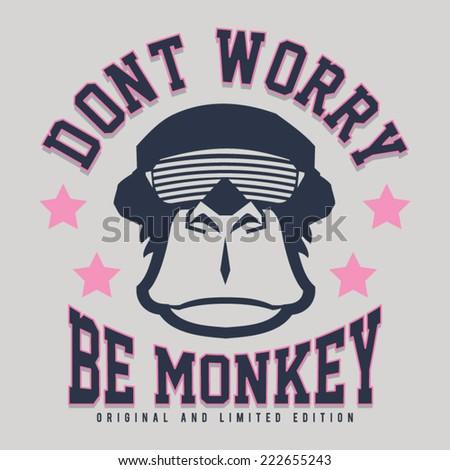 monkey illustration  typography