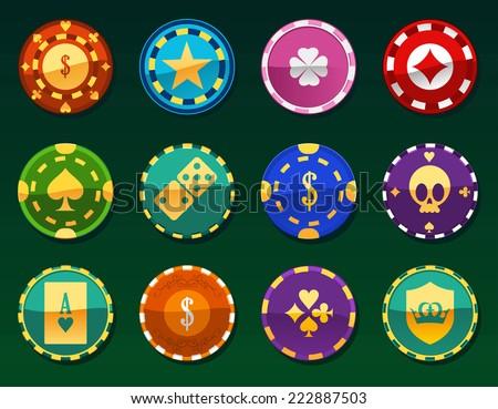 casino chips clay token