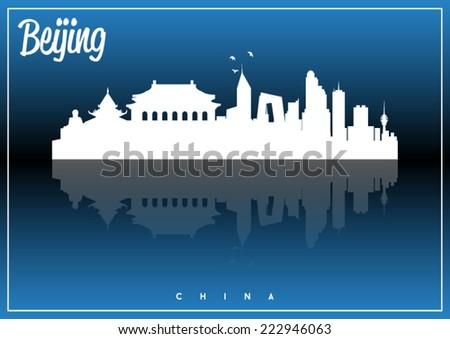 beijing  china  skyline