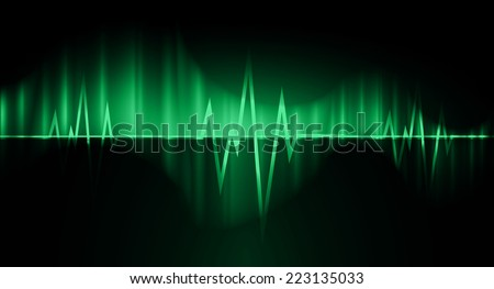 green pulse light abstract