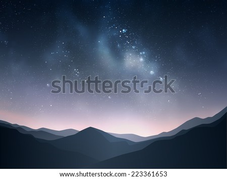 star night vector illustration