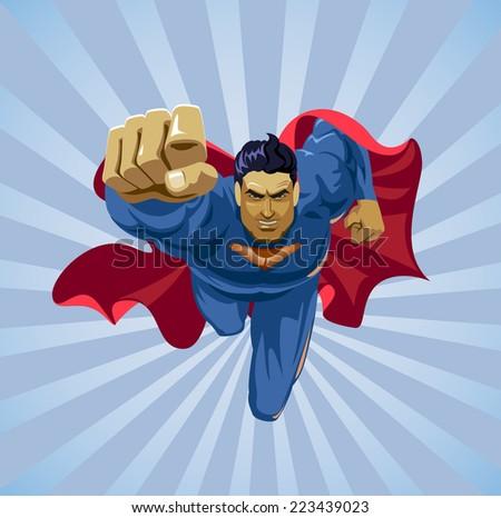 flying superman on camera