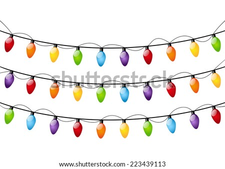 color christmas light bulbs on