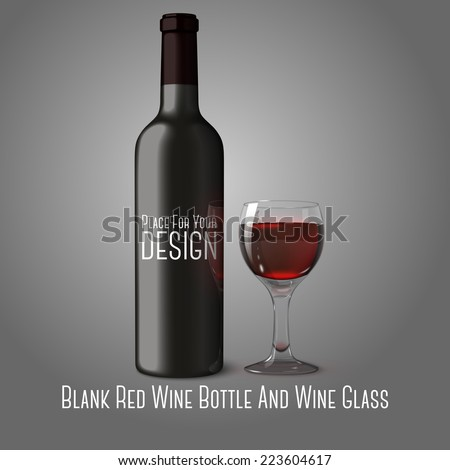 blank black realistic bottle