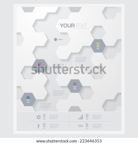 abstract futuristic hexagon