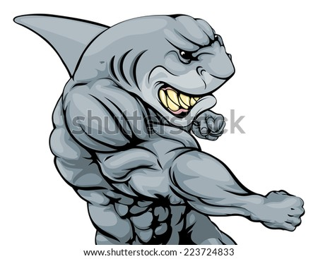 a tough muscular shark