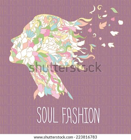 soul beauty doodle vector