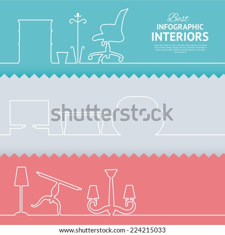 flat colors infographics with
