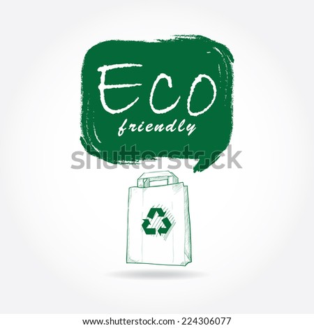 eco friendly  background hand