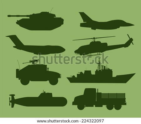 war military vehicles vector