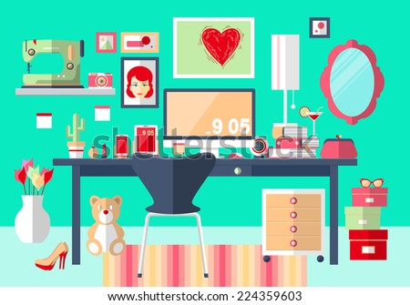 flat design vector illustration