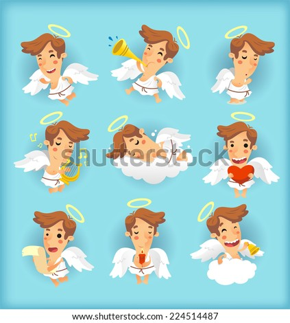 little angel cartoon