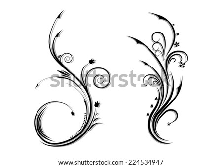 floral ornament on a white