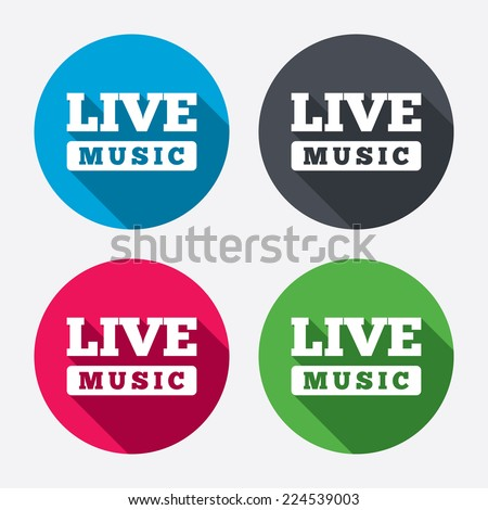 live music sign icon karaoke