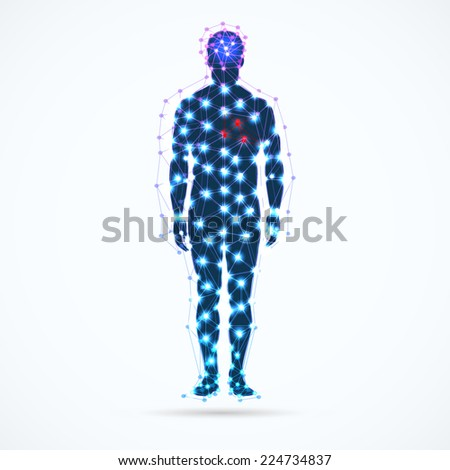 abstract model of man vector