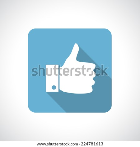 thumb up icon with shadow