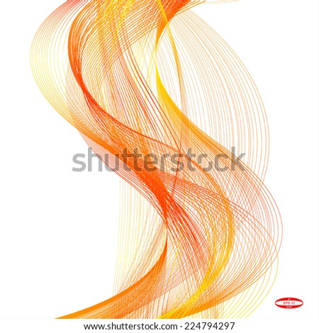 abstract red line orange wave