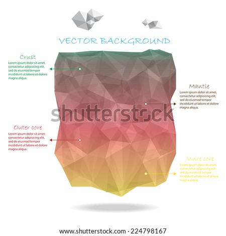 earth crust vector