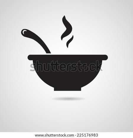 bowl icon isolated on white