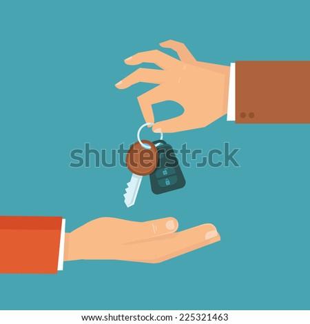 vector car rental or sale