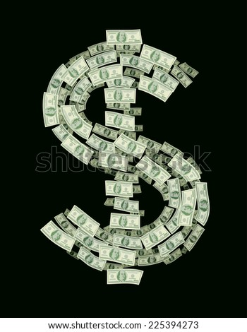 dollar sign consisting of