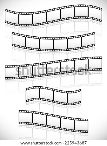 filmstrips vectors for