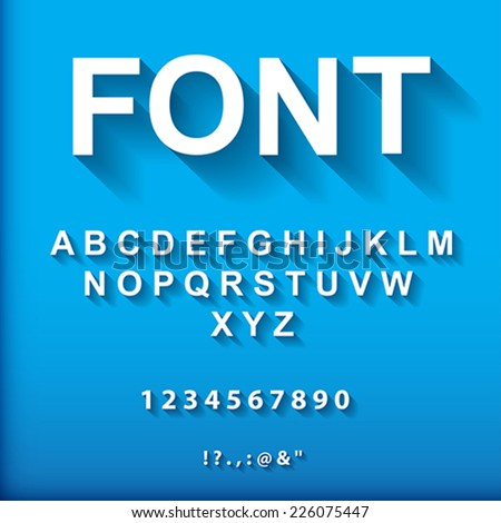 3d font  vector illustration
