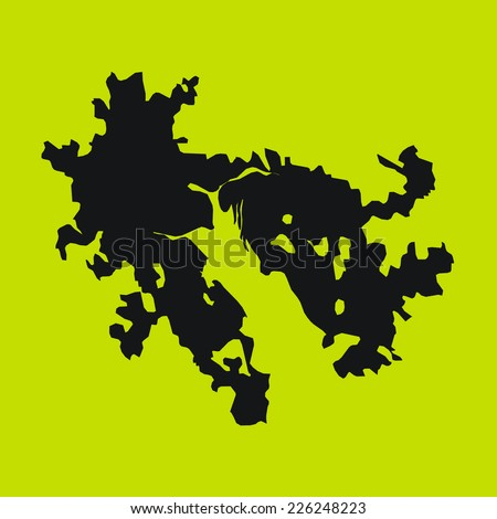 yellow silhouette of the