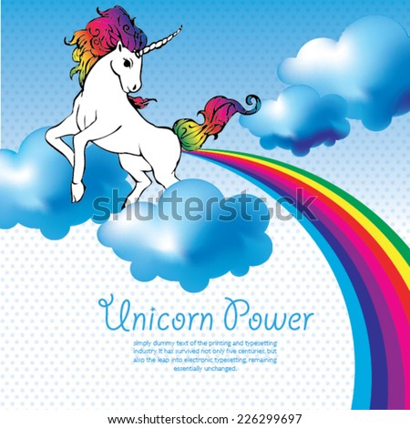 unicorn power with a rainbow