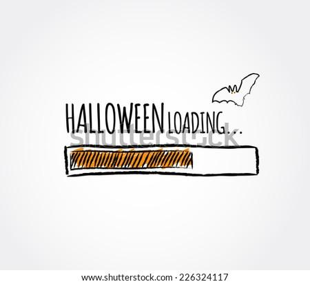 halloween loading progress bar