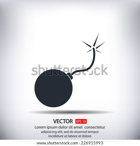 explosives  vector icon