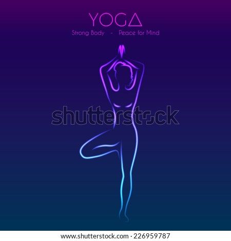 vector illustration of yoga