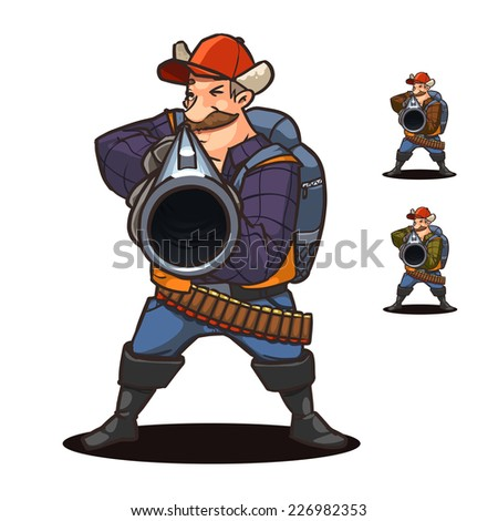 hunter cartoon character