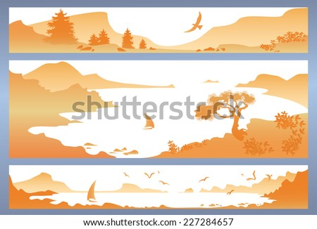landscape with yellow mountains