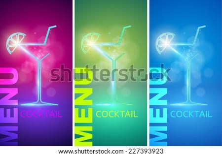 cocktail party design menu