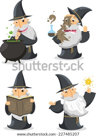 magic witch wizard with long