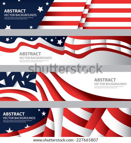 abstract american flag  usa