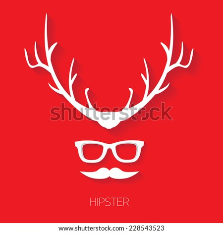 hipster man icon fashion